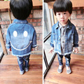 2016 New arrived Spring Autumn Kids Coat Baby Girls&Boys Jacket Outwear Children Denim Jacket Cotton Toddler Baby Jeans Jacket