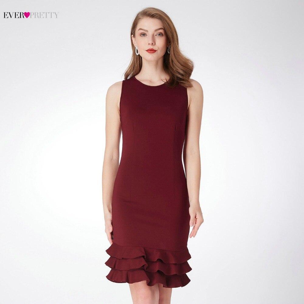 Ever Pretty Women's   Cocktail     Dresses   2018 AS04029BD Modern Short Burgundy Graduation Party   Dresses   for Homecoming Kurze Kleider