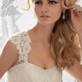2016 Fabuloso vestido de Alta Qualidade Lace Bolero com Sliver Beads Mangas Branco Jaqueta De Casamento com Botões Voltar Hot Sale DH15016