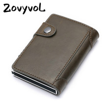 ZOVYVOL NEW Fashion Slim Card Holder Carbon Fiber PU Leather Wallet RFID Blocking Men and Women for Travel