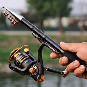 Image 1 - super short hard telescopic spinning fishing rod 1 2.3m boat stick for seafishing bass carp pole portable travel rod for holiday