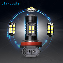 2pcs H8 H11 LED Car Lights LED Bulbs H1 H4 H7 H3 White Daytime Running Lights DRL Fog Light 6000K 12V Driving Lamp(China)