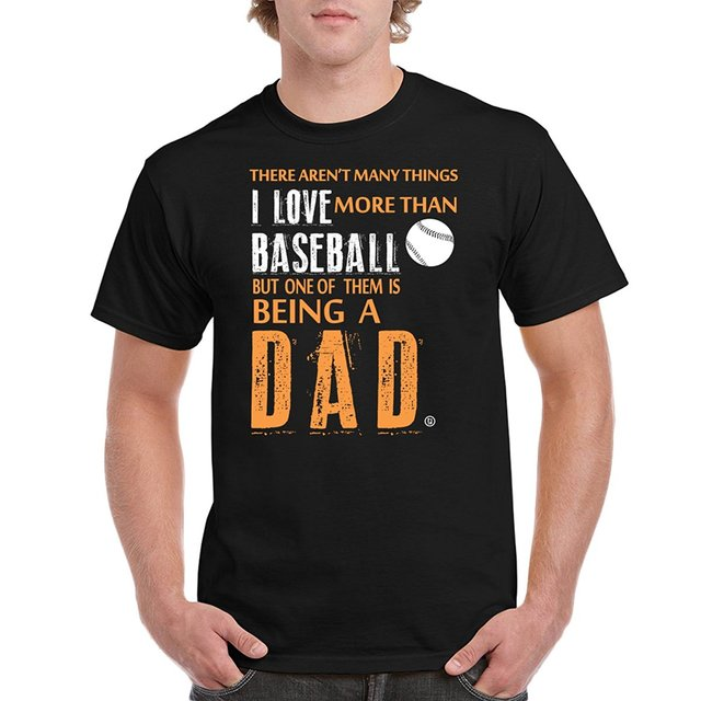 d2bb053de Baseball Dad Fathers Day Gifts Birthday Gifts I Love Baseball Men's T-Shirt  O Neck T Shirts Male Low Price Steampunk