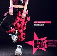 New Fashion Brand Harem Hip Hop Dance Pants Patchwork Candy Pentastar Sports Sweatpants Panelled Spliced Skull