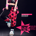 Новая мода Марка Гарем Хип-Хоп Танцевальная брюки тренировочные брюки Panelled Сращены лоскутное конфеты pentastar череп панк брюки