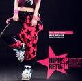 Nova Harem moda Marca Hip Hop Dance calças patchwork pentastar doces calças Panelled Emendado sweatpants crânio do punk