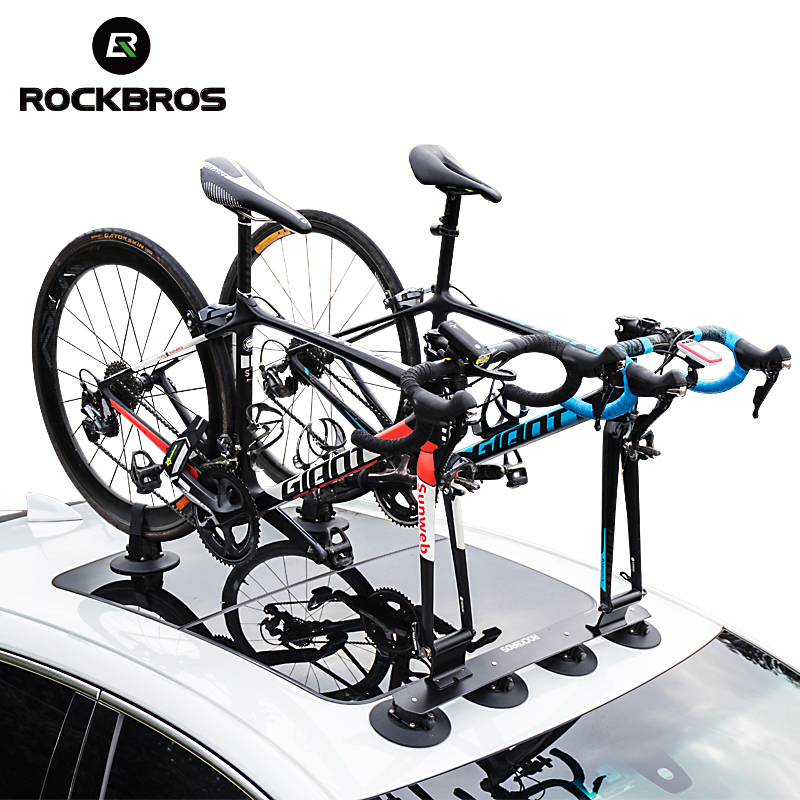 ROCKBROS Bicycle Racks Suction Roof Top Bike Car Rack Carrier Bike Accessories Quick Installation Roof Rack Luggage Sucker Shelf