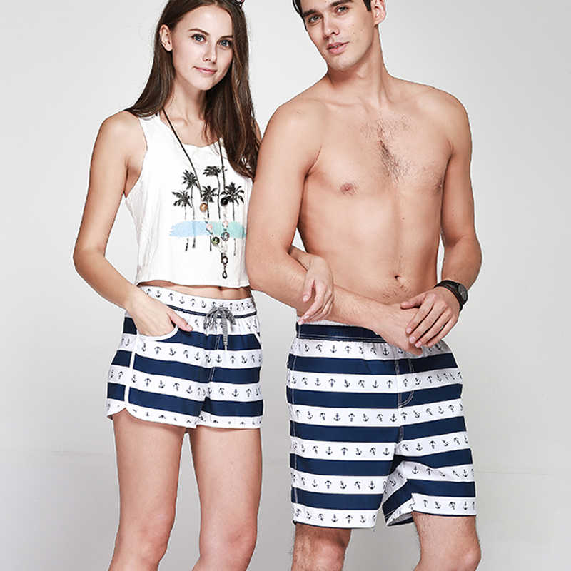 ... Women Mens Board Shorts Fast Dry bermuda masculina Couple Sport Beach  Running Surfing Swimwear for lovers ... b0ec7c29e4