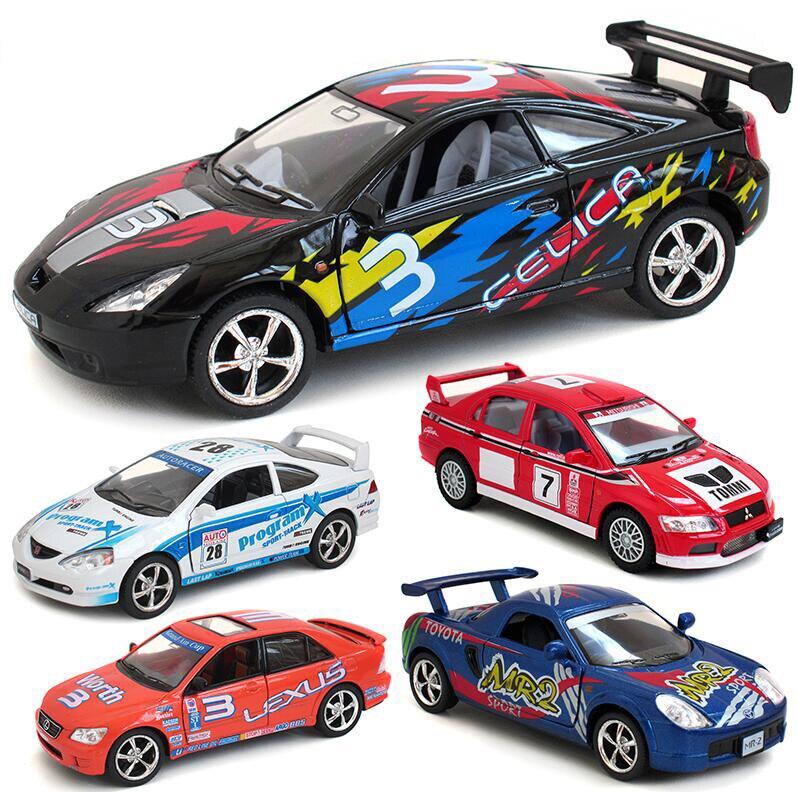 136 car model toys toyota mitsubishi subaru impreza wrc 2007 racing car diecast metal