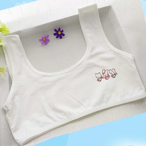a811fbf3afa23 cotton young girls training bra 10-15 years old children bras Condole belt  vest kids bra camisole for child