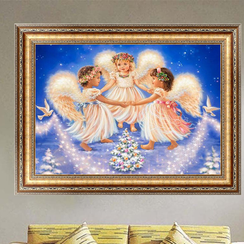 1 Set DIY 5D Diamond Painting Embroidery Angel Girls Broderie Diamant Elf On The Shelf Decoration Maison