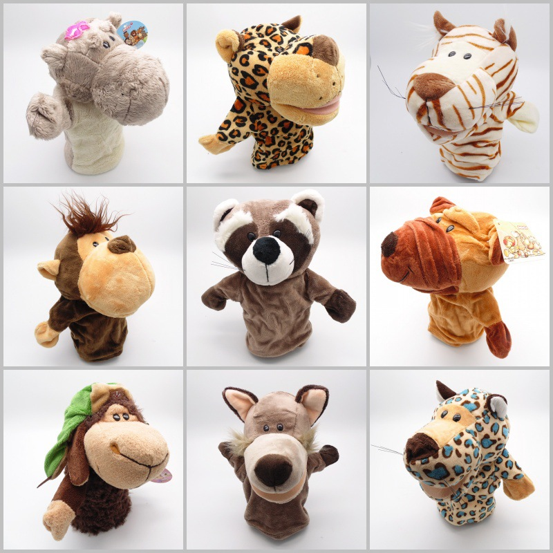 Animal Hand Puppet Toys Classic Kawaii Children Hand Puppet Novelty Cute Gift Dog Monkey Lion Muppet Dolls