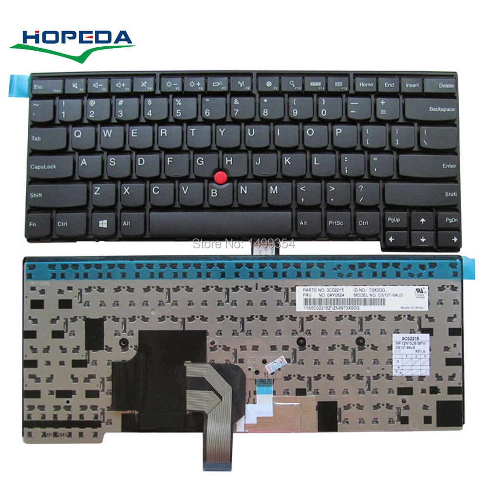 New Laptop Keyboard For Lenovo E431 E440 T440S T431S L440 T450 T440 T440P T450S L450 Keyboard Replacement gzeele new for lenovo thinkpad t440s t440p e431 t431s e440 l440 t450 russian ru laptop keyboard with backlight