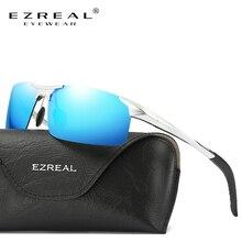 EZREAL Aluminum Magnesium Men's Sunglasses Polarized Coating Mirror Sun Glasses Oculos Male Eyewear Accessories For Men 8177