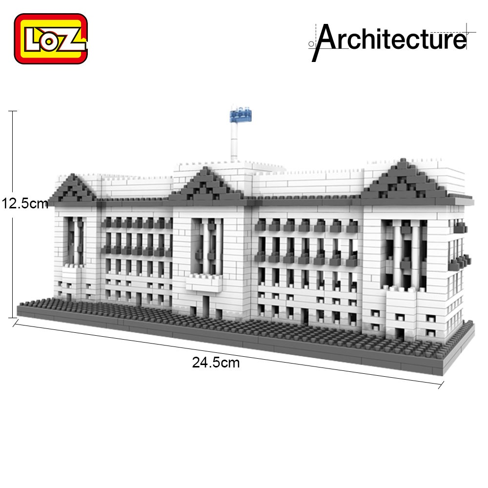LOZ 1540Pcs Building Block World Famous Architecture Buckingham Palace Educational Decompression Toys for Adult and Children loz lincoln memorial mini block world famous architecture series building blocks classic toys model gift museum model mr froger