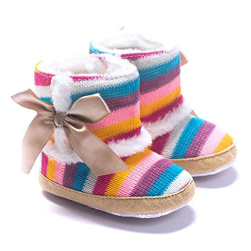 0 18 Months font b Baby b font Girl Boy Multicolor Striped Shoes First Walkers Newborn