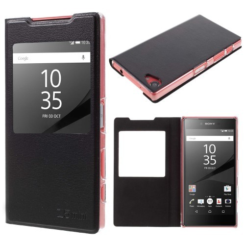 huge discount c08d9 e96f2 US $2.89 |JOVO View Window Smart Phone Leather Cover Shell Flip Case for  Sony Xperia Z5 Compact-in Flip Cases from Cellphones & Telecommunications  on ...