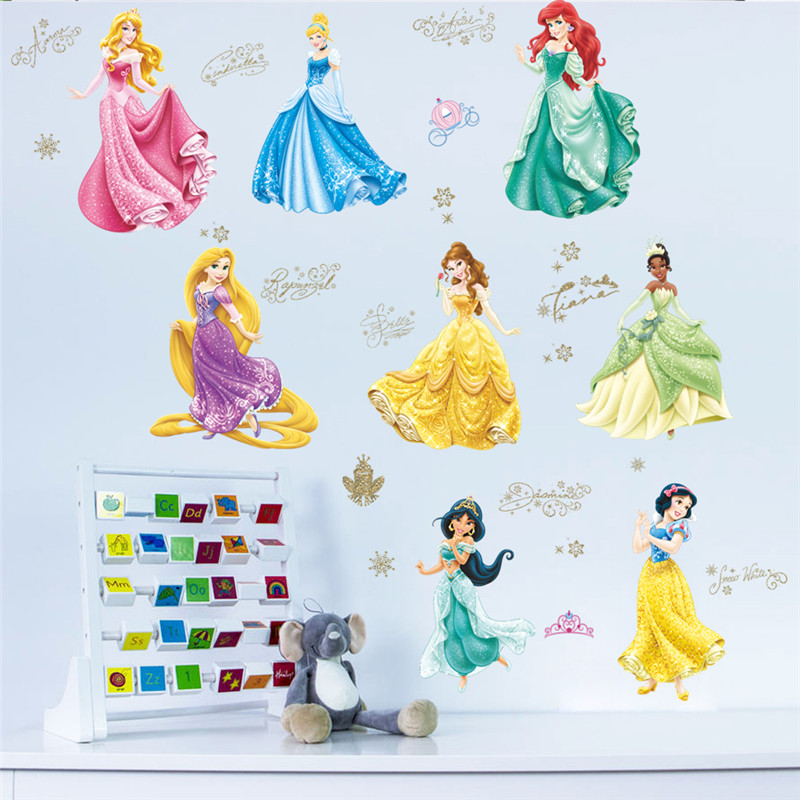 colorful fairy princess dancing wall stickers for girls fairy girl butterfly princess kids room decor diy wall