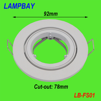 (4 Pack) Free Shipping silver / white spotlight fitting GU10 MR16 downlight fixtures lamp shades High quality Aluminum
