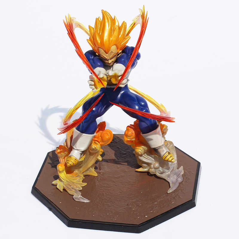 Anime dragon ball z super saiyan vegeta batalha estado final flash pvc figura de ação collectible modelo brinquedo 15 cm