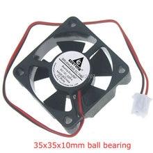 10Pcs Gdstime 35mm 35x35x10mm 2Pin Ball Bearing 0.09A 12V DC Mini Cooling Fan
