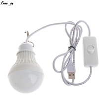 5W 10 LED Energy Saving USB Bulb Light Camping Home Night Lamp Hook Switch