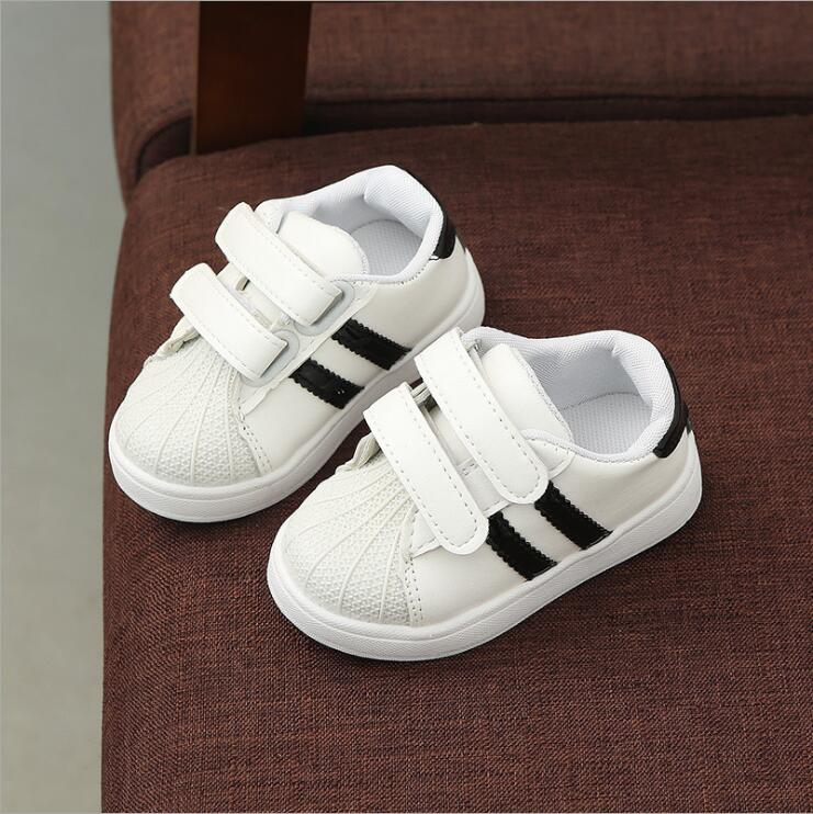 Waterproof soft black children casual shoes for girls white sneakers boy sneakers