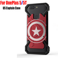 Fashion Cool US Captain Aluminum Metal Back Cover Case For OnePlus 5T OP01