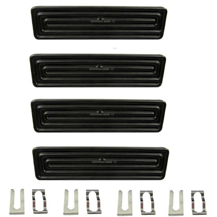 4 unids/lote ezbga Estación de retrabajo calefacción placa de cerámica calentador 240x60mm 600 W con Sensor de temperatura
