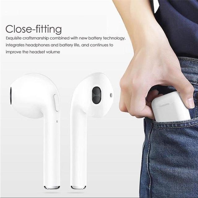 I7 Bluetooth i7S, że mini słuchawki Bluetooth obustronne dźwięku bezprzewodowego z baza do ładowania TWS zestaw słuchawkowy i7S zestaw słuchawkowy Bluetooth sp