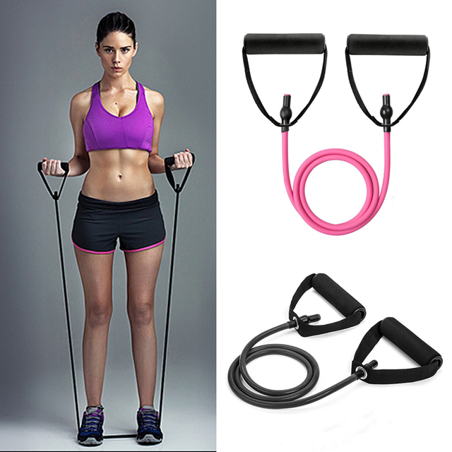 2019 Puxar Corda Faixas Da Resistência da Aptidão Resistência Corda Exerciese Tubos Elásticos Exercício Bandas para Yoga Pilates Gym Equipment
