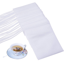 Disposable Empty Tea Bags Filter for Loose 100 PCS 3.54X 2.75 Hheat Seal Bag Paper 1 Cup Capacity 10 g