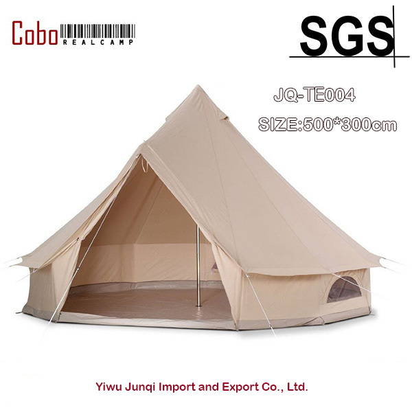 5M/16.4ft Diameter Canvas Bell Tent famliy Camping and Party Khaki Bell Tent