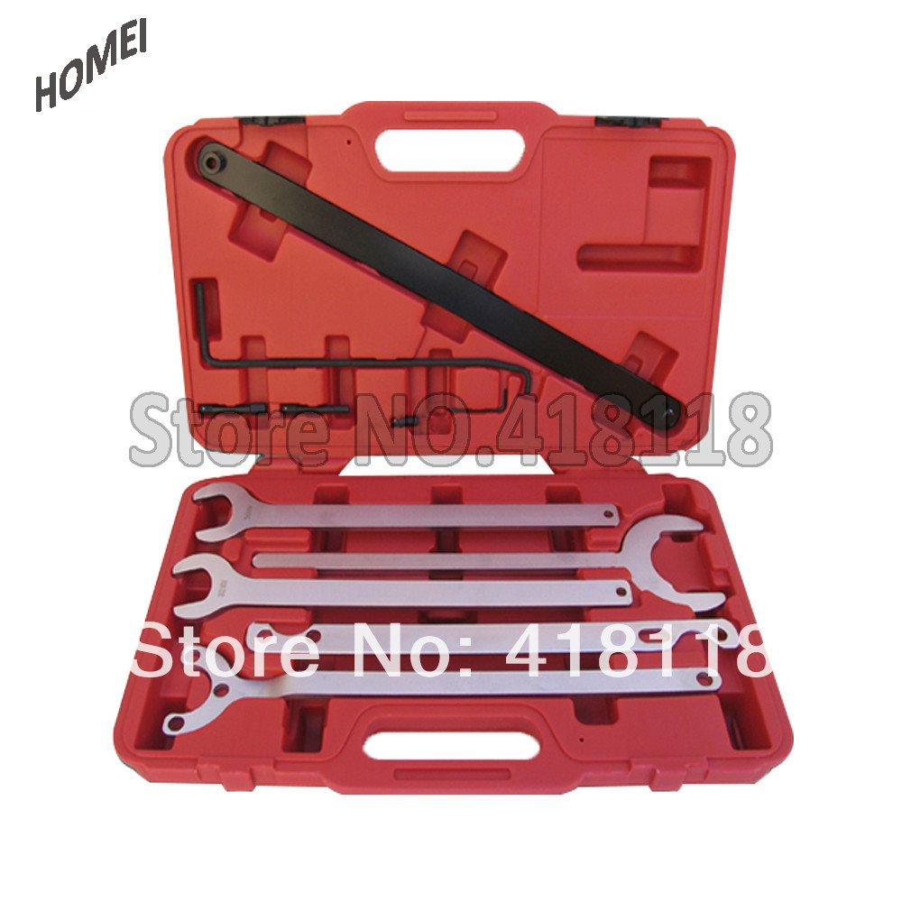 Taiwan Fan Clutch Service Tool Wrench Set for Mercedes-Benz/Bmw/VW/Audi ac a c air conditioner corolla for audi a4 for mercedes benz new electric compressor magnetic clutch hub removing remove tool