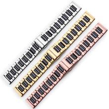14mm 16mm 18mm 20mm 22mm correa de acero inoxidable y cerámica rosa de oro blanco o Rosa de oro negro reloj banda reloj correa
