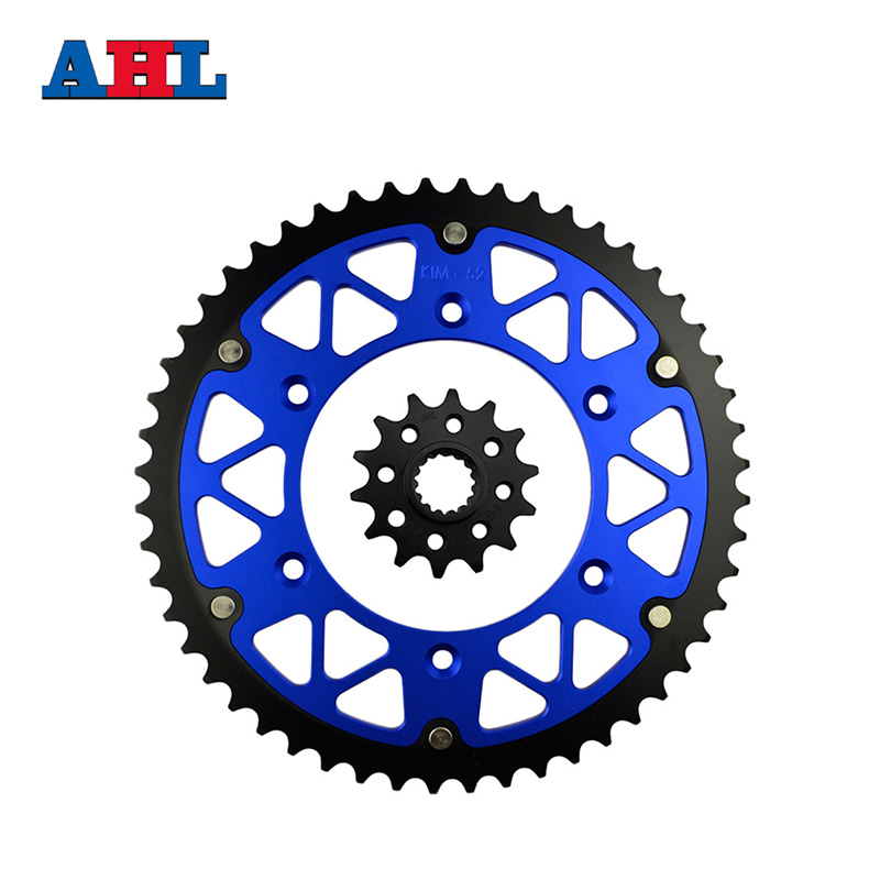 Motorcycle Parts Front & Rear Sprockets Kit for HUSQVARNA TC250 TE300 TC 250 FE350 FC350 FE FC 350 2014 Gear Fit 520 Chain chainsaw piston assy with rings needle bearing fit partner 350 craftsman poulan sm4018 220 260 pp220 husqvarna replacement parts