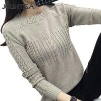 JOLINTSAI Fashion Women Sweater New Autumn Winter Casual O Neck Long Sleeve Pullovers Knitted Sweaters Female