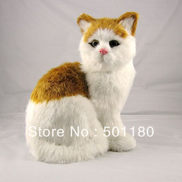 free shipping plush toy cat animated mini cat toy animal cats in