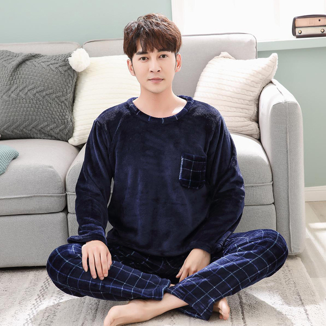 bdf6218e9f Umut pashana 2018 Winter Thick Warm Flannel Pajama Sets ...