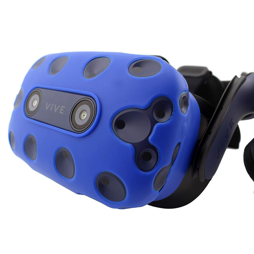 For HTC VIVE PRO VR Virtual Reality Headset Silicone Rubber VR Glasses Helmet Controller Handle Case 0037