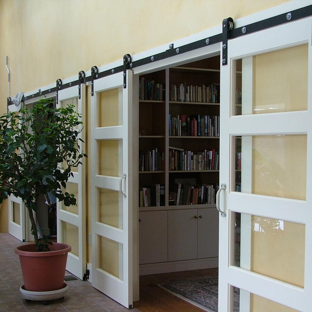 Popular double barn doors buy cheap double barn doors lots for Small double barn doors