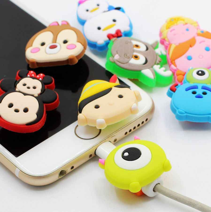 Cartoon USB Charger Cable Organizer Cable Protector For iPhone Headphone data line saver Protection for samsung huawei xiaomi