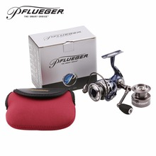 2016 New! Pflueger PATRIARCH 9525 9530 9535 Spinning Fishing Reel 9+1BB 5.2:1 Anti Corrosion + A Free Reel bag + Spare spool