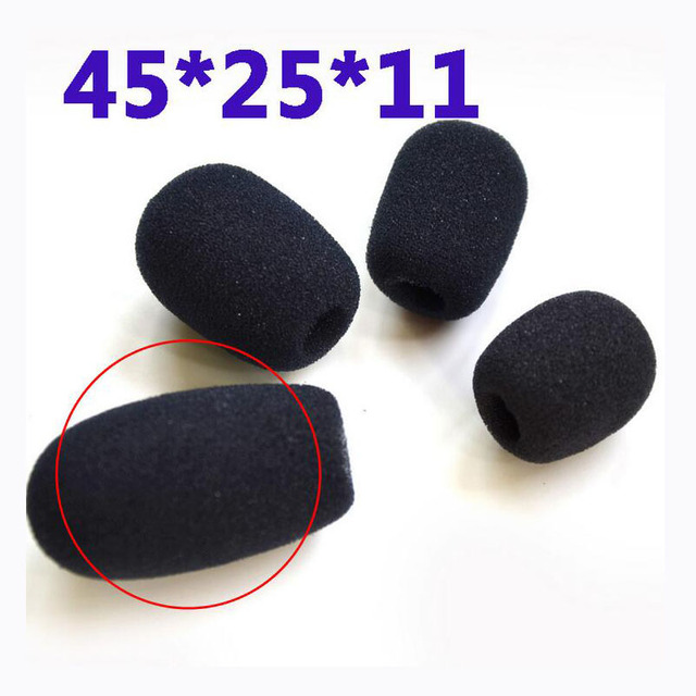 Headset replacement Foam Microphone Cover telephone headset mic cover microphone windscreen windshied headset foam 1