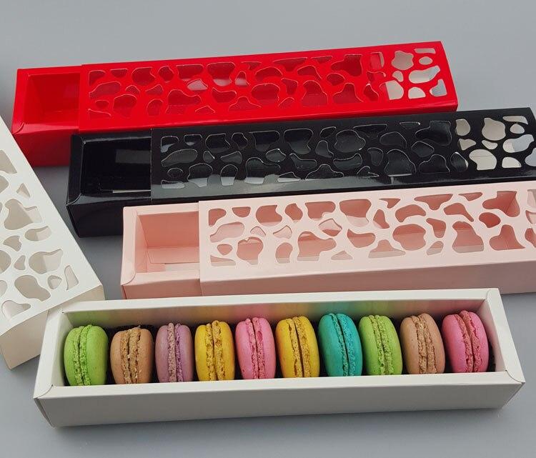 24*4,3*3,6 cm 4 Color galletas caja de embalaje Hollow Cake Macaron cajas contenedor cupcakes soporte de almacenamiento 100pcs  lote envío gratis-in Suministros de envoltorios y bolsas de regalo from Hogar y Mascotas    1