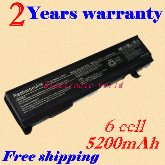 JIGU New 4400mAh Laptop Battery For Toshiba 3451 PA3451U-1BRS PA3457U-1BRS PABAS067 PA3465U-1BRS PABAS069