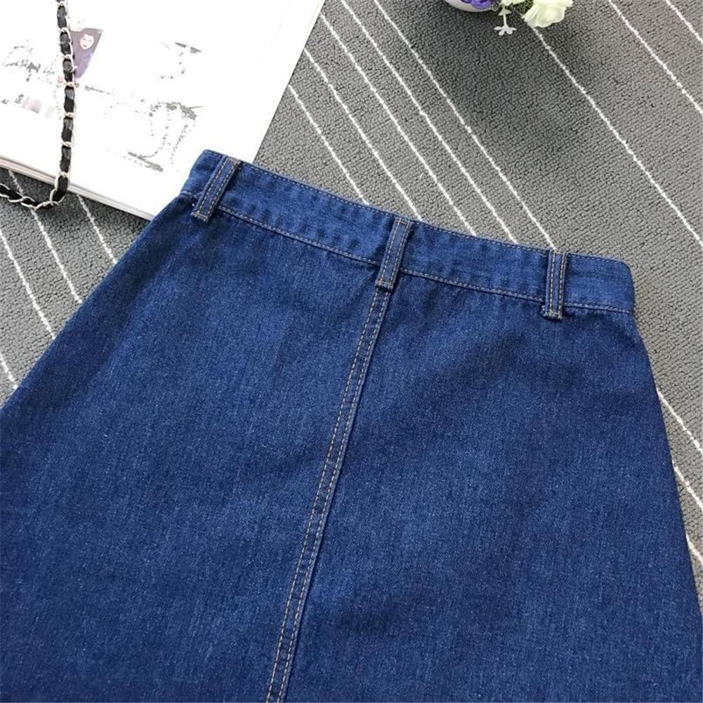 Denim Skirt Spring Summer Women Short A-line Buttom Skirts High Waist Slim Pocket Clothes For Female Causal Summer Women Skirt 22