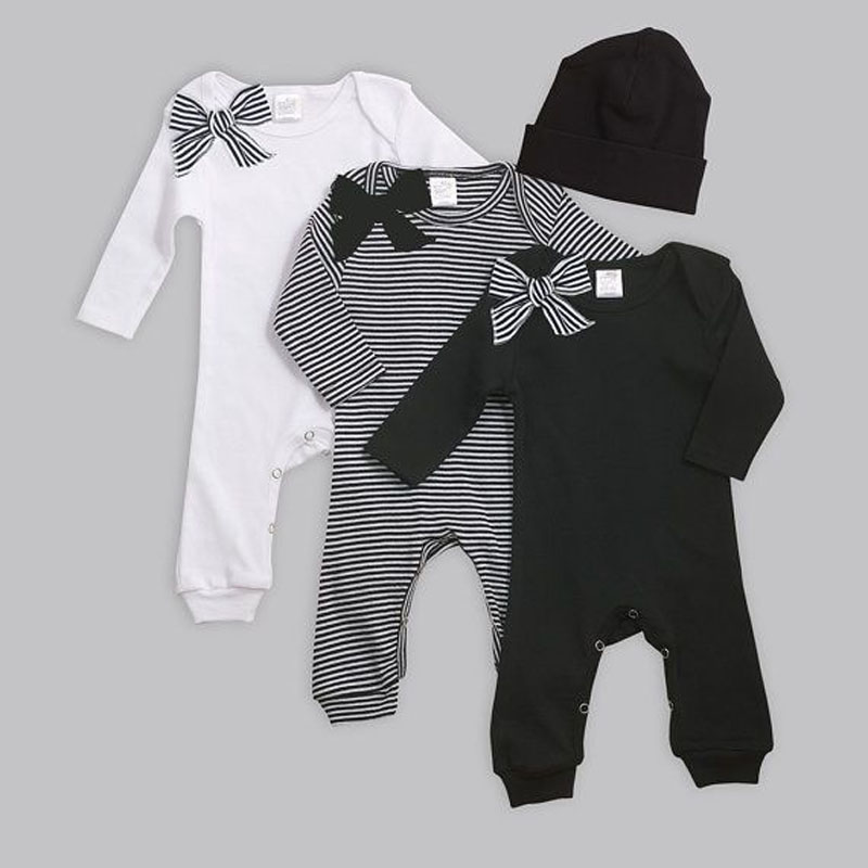 New Born Girl Clothes Cotton Long Sleeve Winter Body For Babies Romper Bobo Choses Headband Baby Roupa De infant rompers