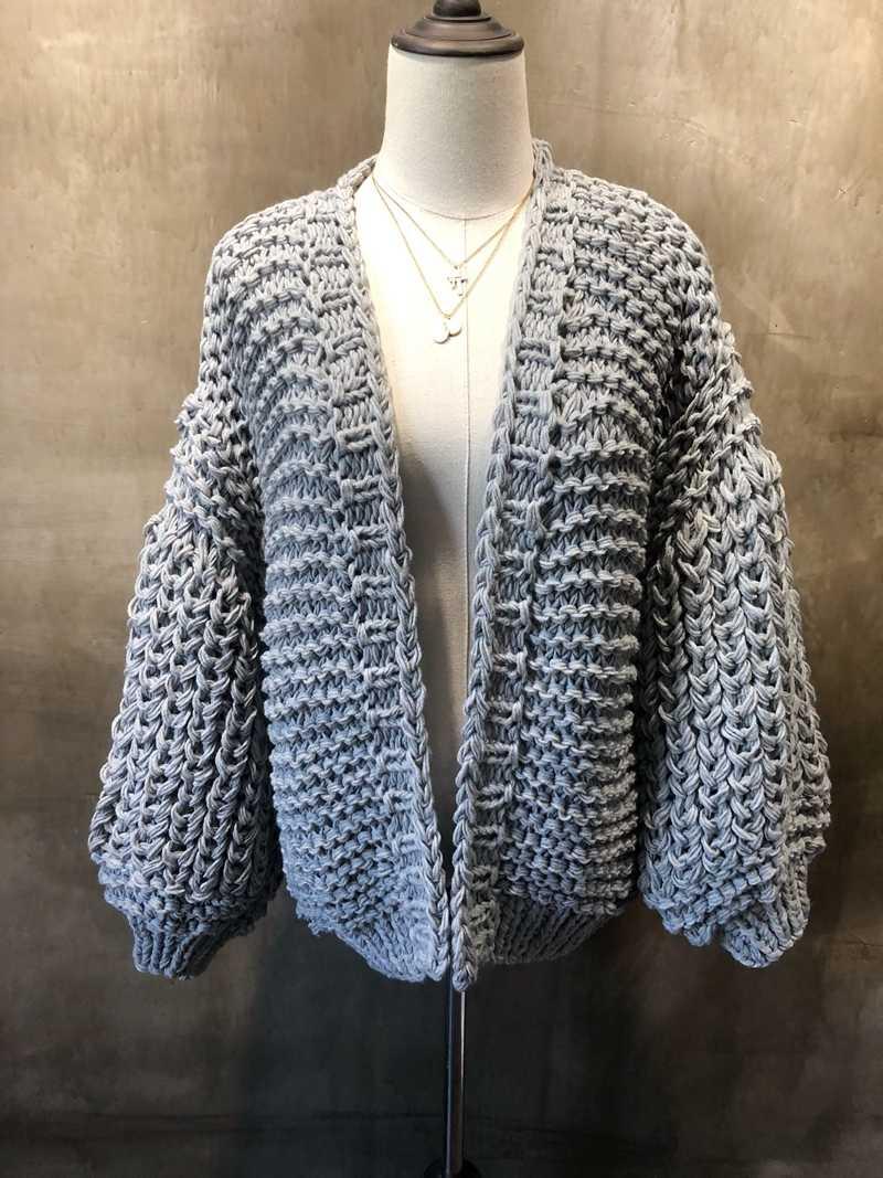 2020 가을 겨울 거친 양모 손으로 짠 스웨터 여성 v-목 게으른 바람 거친 양모 니트 카디건 자켓 코트