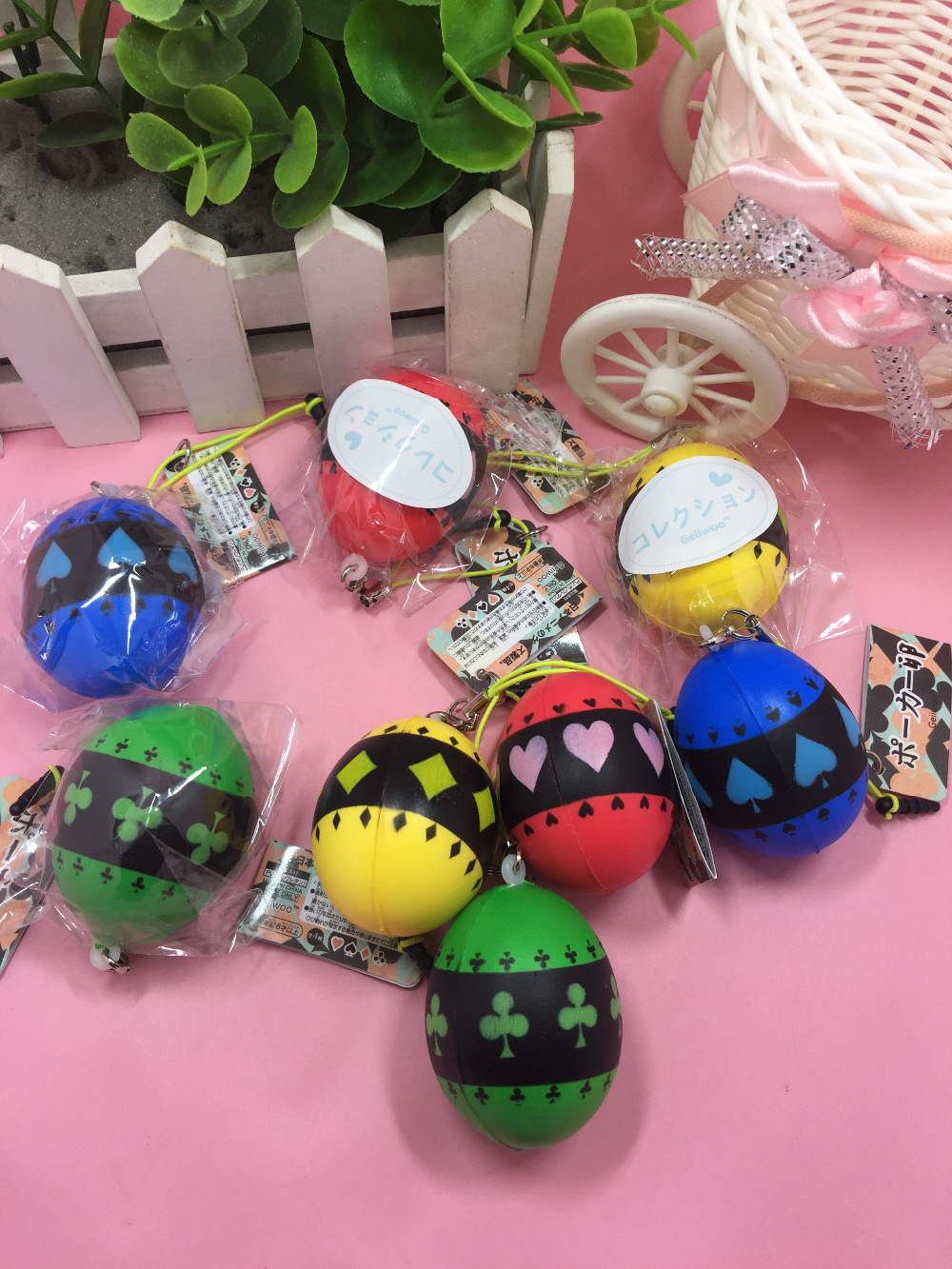 New 20pcs lot kuwaii rare Mini Poker eggs squishy Slow Rising toys Original Package cell phone